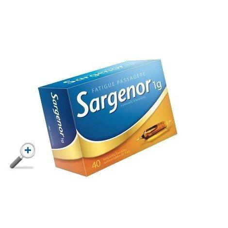 Sargenor 1g Fatigue Passagère 40 Ampoules Buvables 5 ml pas cher, discount