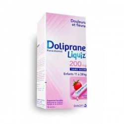 Doliprane Liquiz 200 mg Enfants 11 à 38 kg 12 Sachets pas cher, discount
