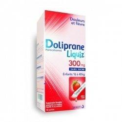 Doliprane Liquiz 300 mg Enfants 16 à 48 kg 12 Sachets pas cher, discount
