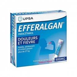 Efferalgan 500 mg 16 Sachets Vanille-Fraise Adultes, Adolescents et Enfants + de 27 kg pas cher, discount