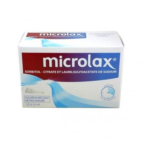 Microlax Solution Rectale 12 récipients unidoses pas cher, discount