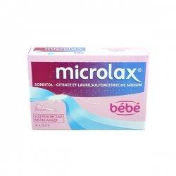 Microlax Bébé Solution Rectale 4 récipients unidoses pas cher, discount