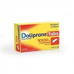 Doliprane Tabs 1000 mg Douleurs et Fièvre 8 Comprimés