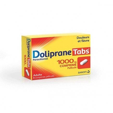 Doliprane Tabs 1000 mg Douleurs et Fièvre 8 Comprimés pas cher, discount