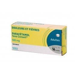 Paracétamol 500 mg Teva 16 Comprimés pas cher, discount