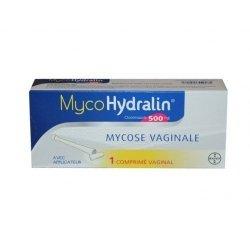 MycoHydralin 500 mg 1 Comprimé Vaginal avec Applicateur pas cher, discount