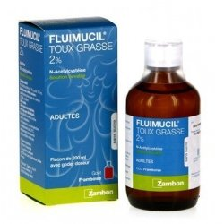 Fluimucil 2% Toux Grasse Solution Buvable 200 ml pas cher, discount