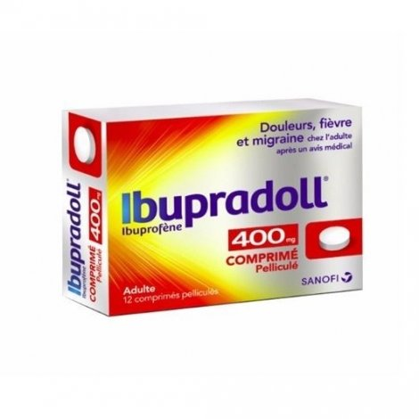Ibupradoll Adulte 400 mg 12 comprimés pelliculés pas cher, discount