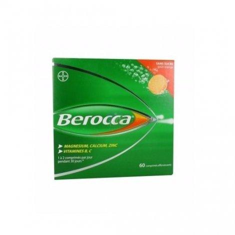 Berocca sans sucre orange 60 comprimés effervescents pas cher, discount
