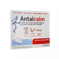 Antalcalm Traitement Local de la Douleur 140 mg 5 emplâtres pas cher, discount