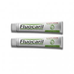 Fluocaril Bi-Fluoré 250 mg menthe Pâte Dentifrice 2x75ml pas cher, discount
