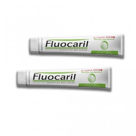 Fluocaril Bi-Fluoré 250 mg menthe Pâte Dentifrice 2 x 125 ml pas cher, discount