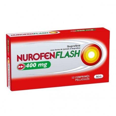 Nurofenflash 400 mg Douleurs et Fièvre Boite de 12 Comprimés pelliculés pas cher, discount
