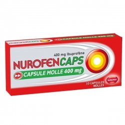 Nurofencaps 400 mg Douleurs et Fièvre Boite de 10 Capsules molles