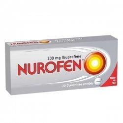 Nurofen 200 mg Douleurs et Fièvre 30 Comprimés enrobés pas cher, discount