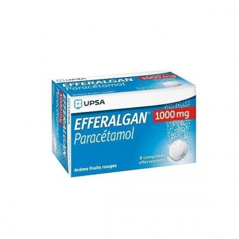 Efferalgan Paracétamol 1000mg Fruits Rouges 8 comprimés Effervescents pas cher, discount