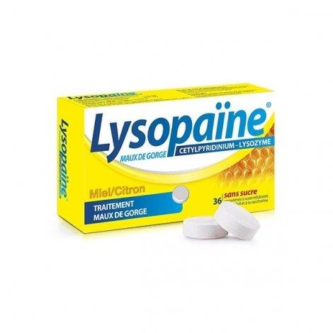 Lysopaïne Maux De Gorge Miel-Citron x36 Comprimés pas cher, discount