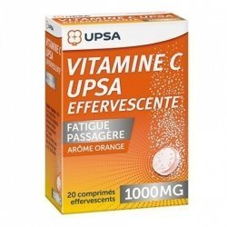 UPSA Vitamine C 1000mg Fatigue Passagère Orange x20 Comprimés