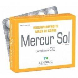 Lehning N°39 Mercur Sol Rhinopharyngites Bronchites x60 Comprimés pas cher, discount