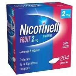 Nicotinell 2 mg Fruit 204 Gommes à mâcher Sans Sucre