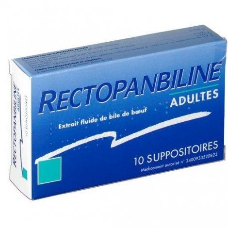 Rectopanbiline Adultes 10 Suppositoires pas cher, discount