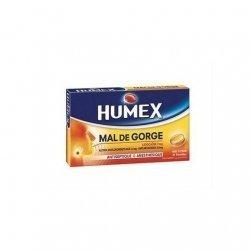Humex Mal De Gorge Lidocaïne 2mg Sans Sucre Miel Citron x24 Pastilles