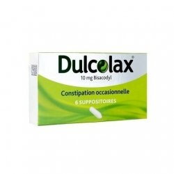 Dulcolax 10mg Bisacodyl Constipation Occasionnelle x6 Suppositoires