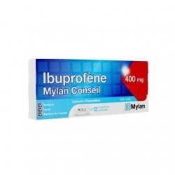 Mylan Ibuprofène 400mg Douleurs Fièvre Migraine x12 Comprimés pas cher, discount