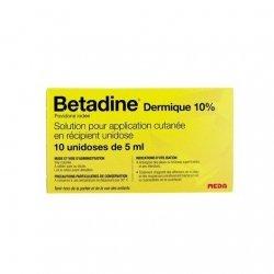 Betadine Dermique 10% Plaies Et Brûlures 10x5ml