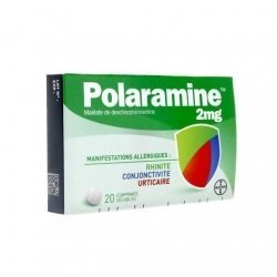 Bayer Polaramine 2mg Allergies x20 Comprimés Sécables