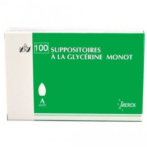 Merck Suppositoires A La Glycérine Monot Adultes x100 pas cher, discount