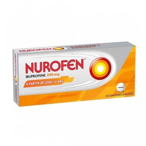 Nurofen Ibuprofène 200mg Dès 6 Ans Douleurs Et Fièvre x20 Comprimés pas cher, discount