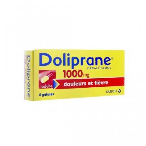 Doliprane 1000mg Douleurs Fièvre x8 Gélules pas cher, discount