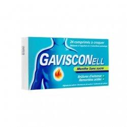 Gavisconell Menthe Sans Sucre Brûlures D'Estomac x24 Comprimés