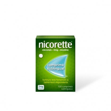 Nicorette Microtab - 100 Comprimés Sublingaux 2 mg Original pas cher, discount