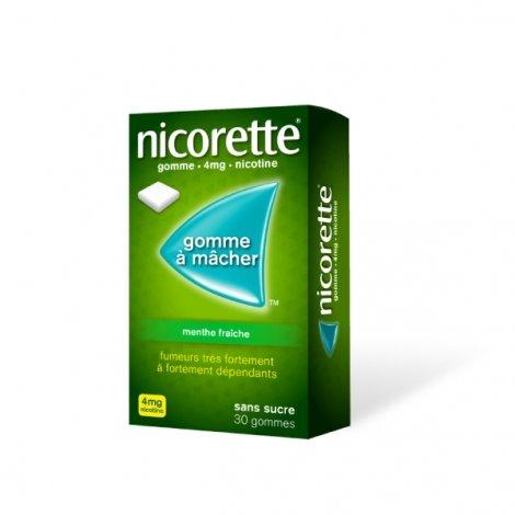 Nicorette 4 mg Menthe Fraîche  30 Gommes à mâcher pas cher, discount