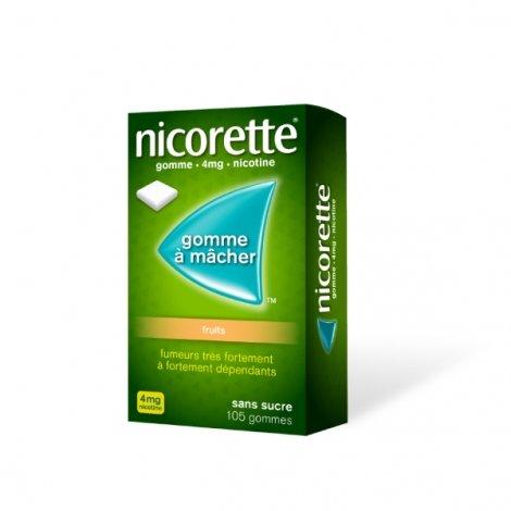 Nicorette 4 mg Fruits 105 Gommes à mâcher pas cher, discount