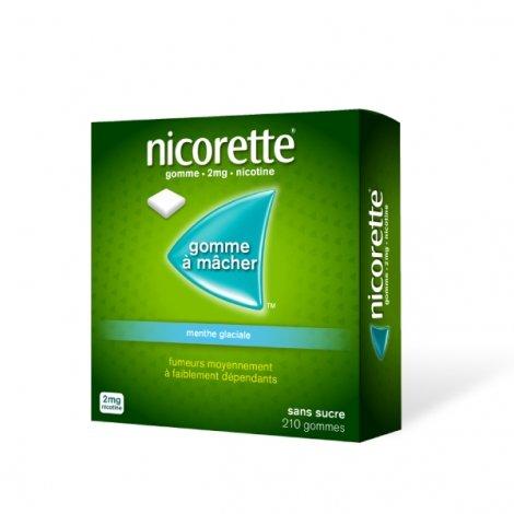 Nicorette 2 mg Menthe Glaciale 210 Gommes à mâcher pas cher, discount