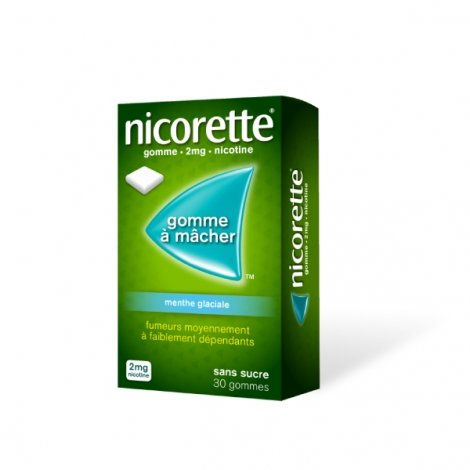 Nicorette 2 mg Menthe Glaciale  30 Gommes à mâcher pas cher, discount