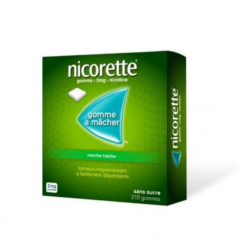 Nicorette 2 mg Menthe Fraîche  210 Gommes à mâcher pas cher, discount