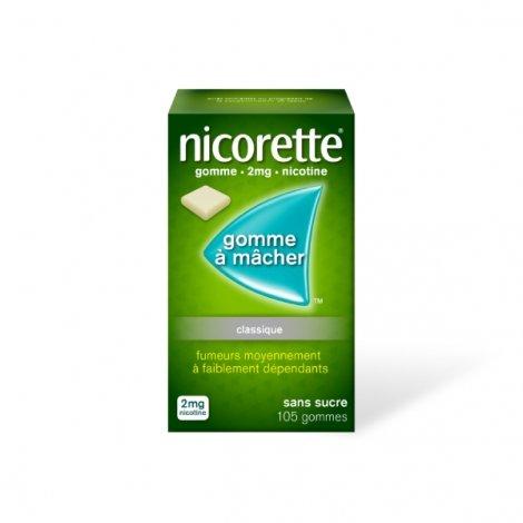 Nicorette  2 mg 105 Gommes à mâcher pas cher, discount