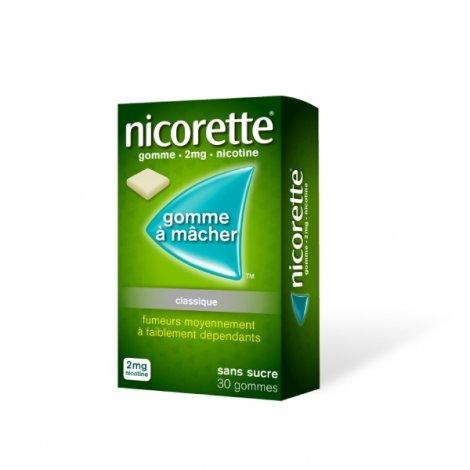 Nicorette  2 mg 30 Gommes à mâcher pas cher, discount