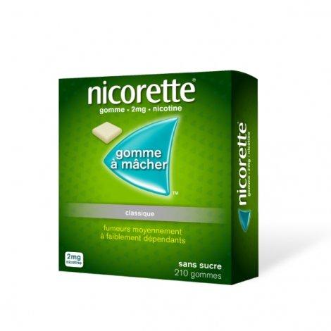 Nicorette 2 mg Original  210 Gommes à mâcher pas cher, discount