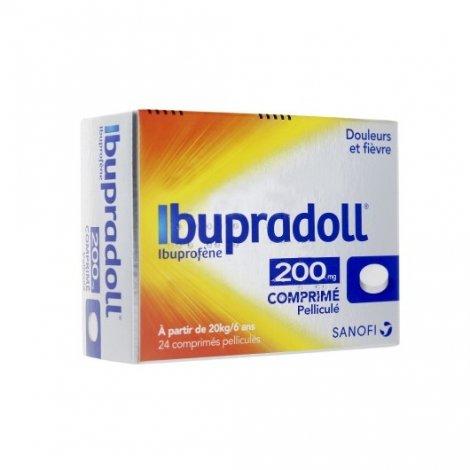 Ibupradoll 200mg Ibuprofène Douleurs Et Fièvre x24 Comprimés pas cher, discount