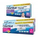 Clearblue 10 Tests D'ovulation Digital 2 Hormones + Clearblue 2 tests de grossesse indicator