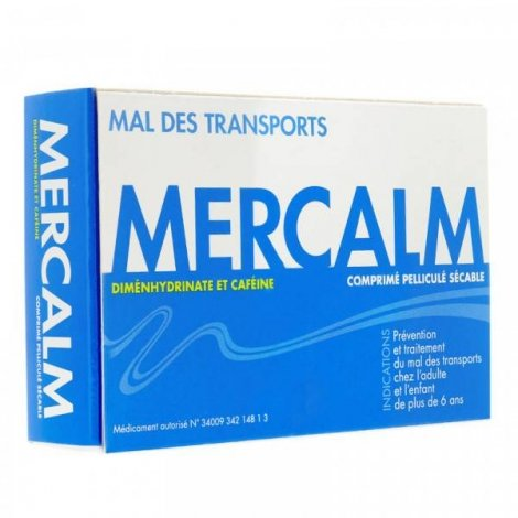 Mercalm Mal des Transports 15 Comprimés pelliculés pas cher, discount