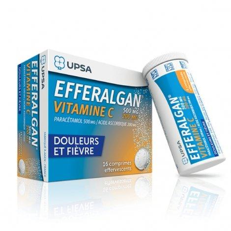 Efferalgan Vitamine C 16 Comprimés Effervescents pas cher, discount