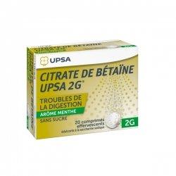 Citrate de Bétaïne UPSA Menthe Sans sucre 20 Comprimés Effervescents