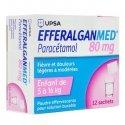 EfferalganMed Pédiatrique 80mg 12 sachets