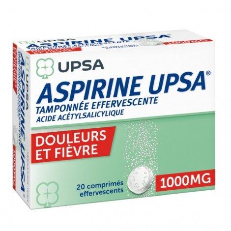 Aspirine UPSA 1000 mg 20 Comprimés Effervescents pas cher, discount